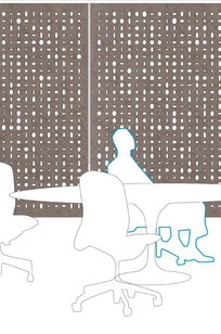Ellipse Hanging Panel on Designer Page