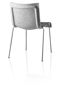 GUBI CHAIR 2, back light grey felt and f on Designer Page