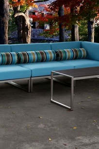 St. Bart Aluminum Wood Coffee Table on Designer Page