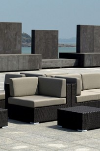 Pacifica Aluminum Wicker Corner Sectional on Designer Page