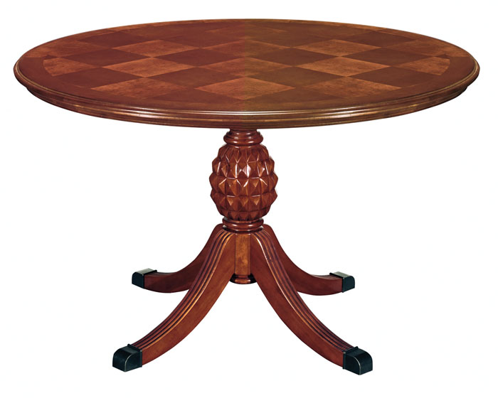 Antigua Round Conference Table With Pedestal Base On Designer - Conference table pedestal base