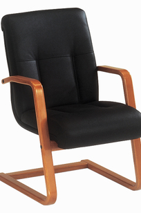 Side Chair in Black Leather on Designer Page
