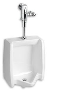 Washbrook 0.125 gpf Washout Top Spud Urinal with Selectronic Exposed AC Flush Valve System on Designer Page