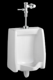 Washbrook 1.0 gpf Washout Top Spud Urinal with Manual Flush Valve System on Designer Page