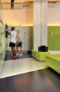 Glass fronted lockers with proven engineering for dry areas on Designer Page