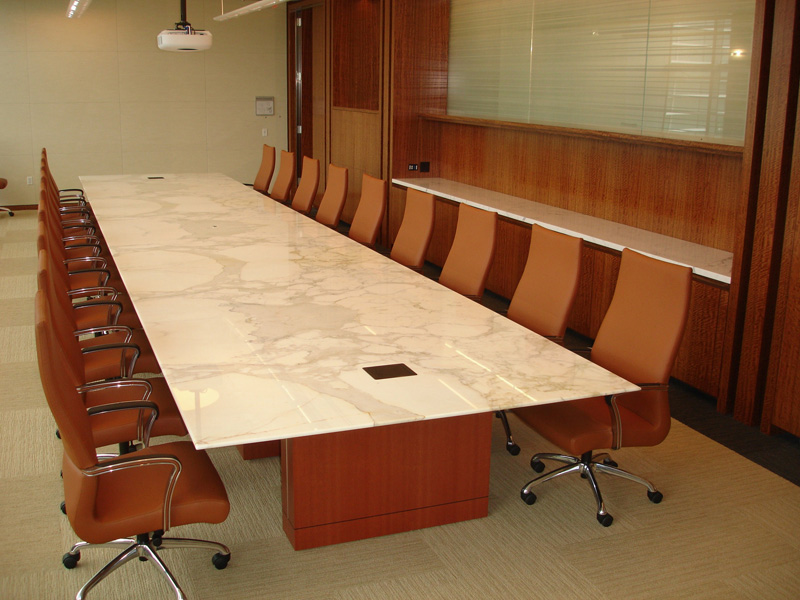 Ct White Calacatta Marble Conference Table On Designer Pages - White marble conference table