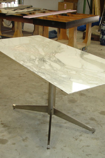Neoclassic Base With Calcutta Marble Top 59 on Designer Page