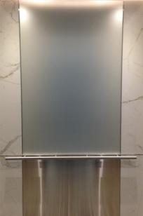 SATIN ETCH GLASS on Designer Page