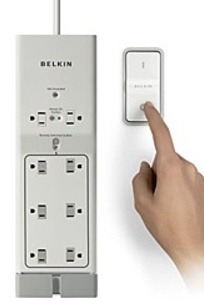 Belkin Conserve Switch Surge Protector with Remote on Designer Page