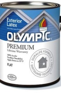 Olympic Premium Exterior Paint on Designer Page