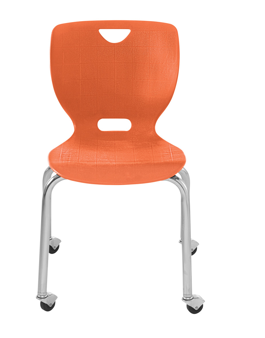NeoClass Four Leg Chair with Casters