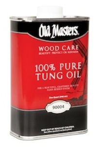 Old Masters 100% Pure Tung Oil on Designer Page