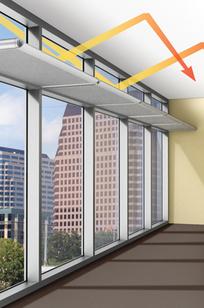 Luminance Light Shelf System on Designer Page