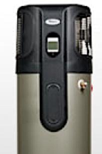 Whirlpool Hybrid Heat Pump Water Heater on Designer Page