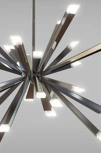 Starburst LED Chandelier on Designer Page