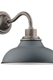 "Carson 12"" Wall Sconce Matte Gray on Designer Page"