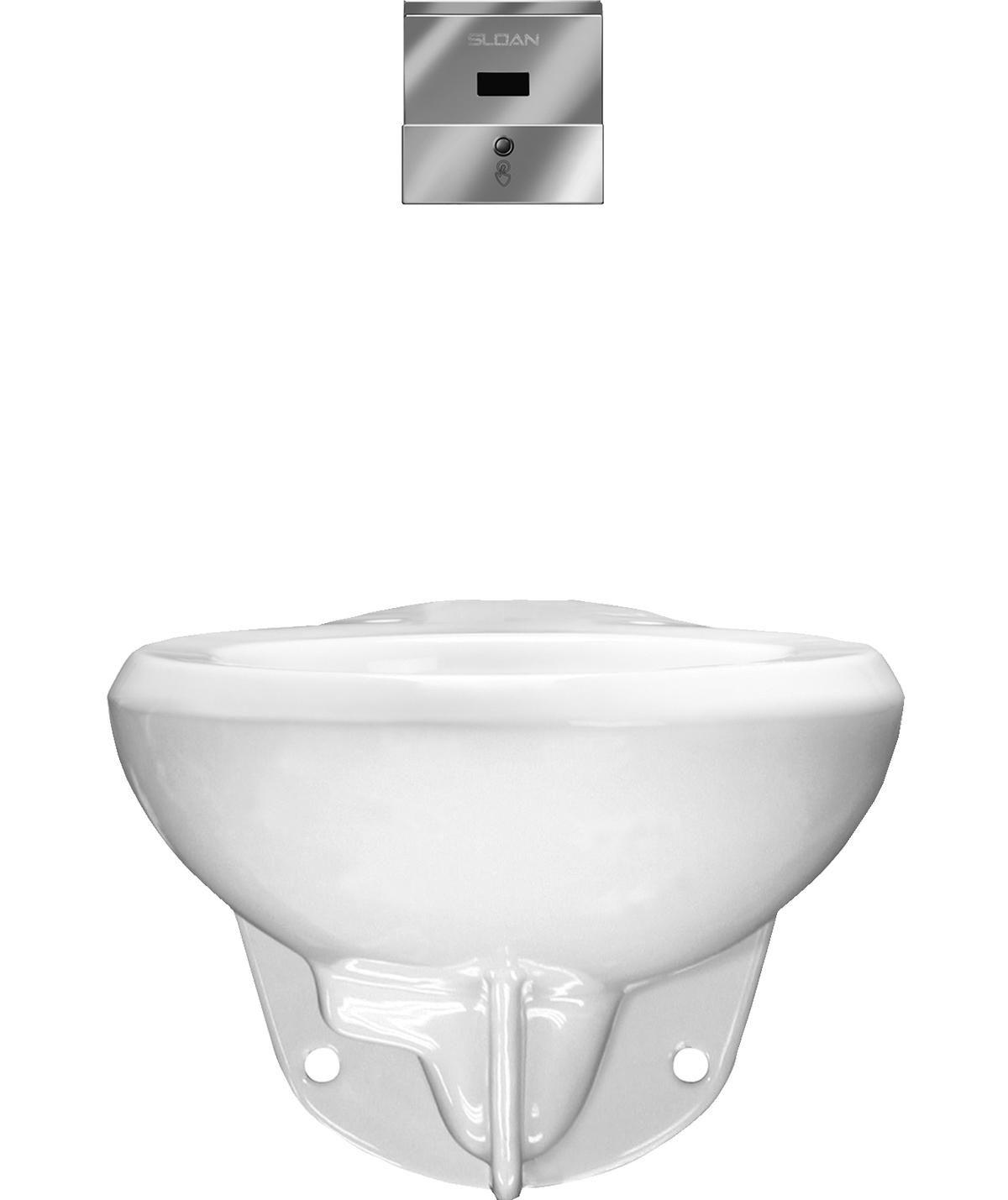 Sloan Rear Spud Wall Hung Toilet Fixtures, on Designer Pages