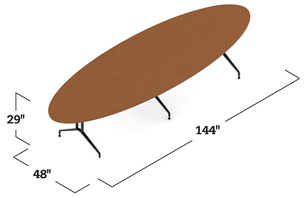 Alba Tables Elliptical Conference Table On Designer Pages - Elliptical conference table