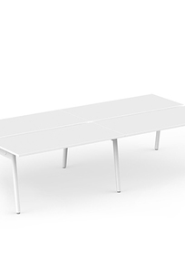 "Series A Double Desk for 4, White, 47"" on Designer Page"