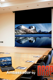 Ambassador Electric Projection Screen on Designer Page