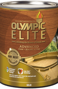OLYMPIC ELITE ADVANCED STAIN + SEALANT IN ONE SOLID on Designer Page