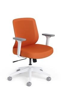 Orange Max Task Chair, Mid Back, White Frame on Designer Page