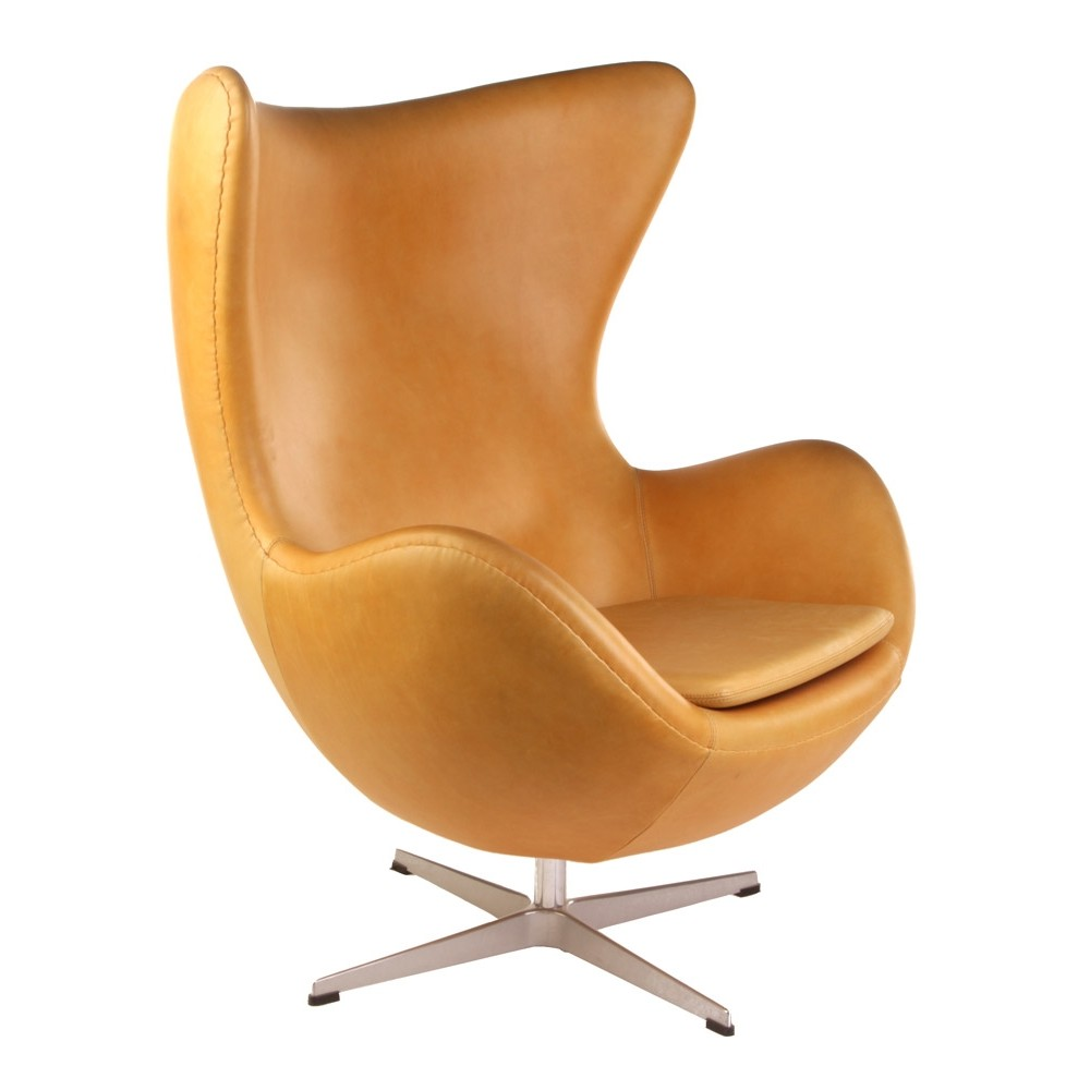 Arne Jacobsen Egg Chair Replica In Leather 80170 On Designer Pages