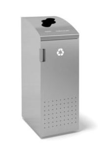 "ReSort - 20""W with Top Opening Recycling Receptacle on Designer Page"