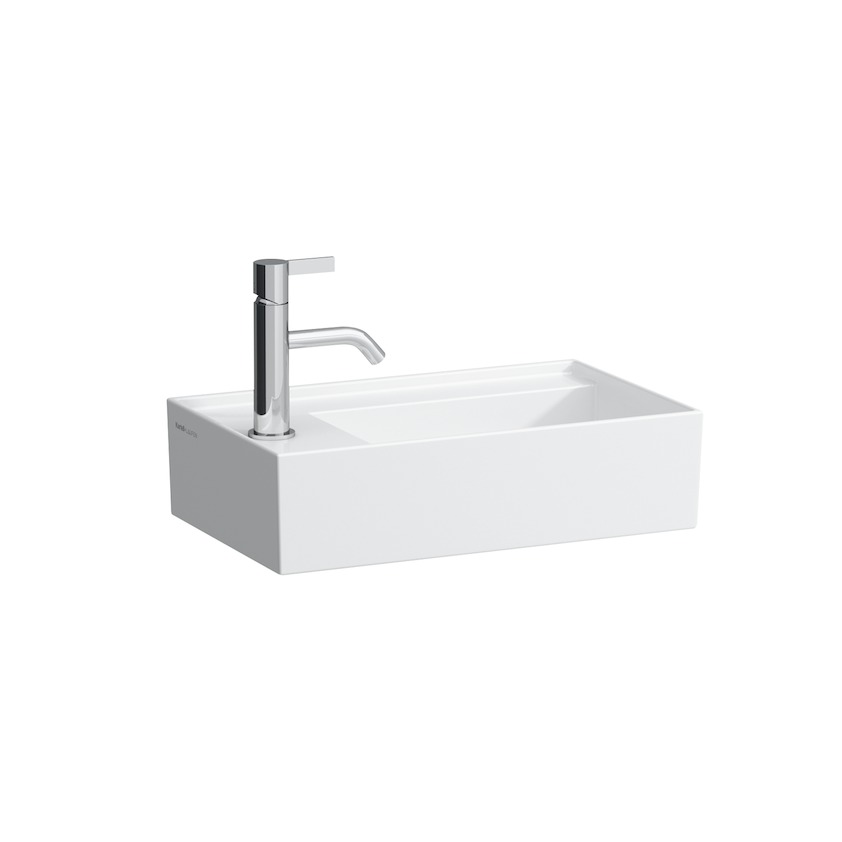 815335 small washbasin  asymmetric  tap bank left  with special hidden outlet 0