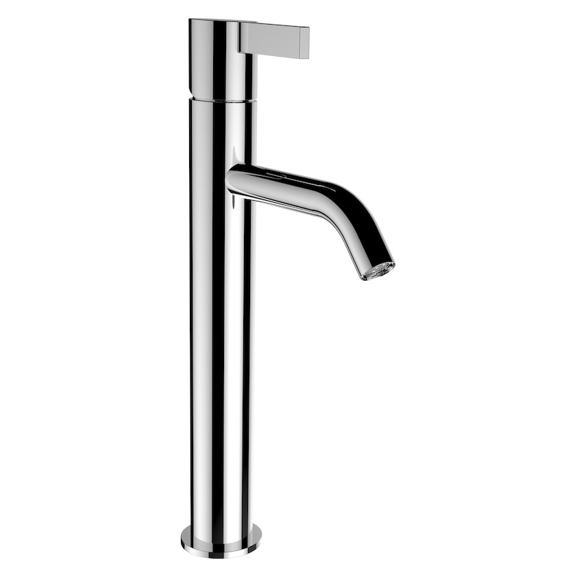 3113380041201 column basin mixer  projection 125 mm  fixed spout  without pop up waste 0