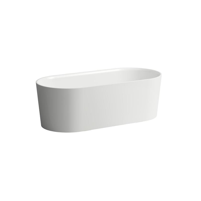 230282 bathtub  freestanding  made of solid surface material sentec  with integrated overflow and feet 0