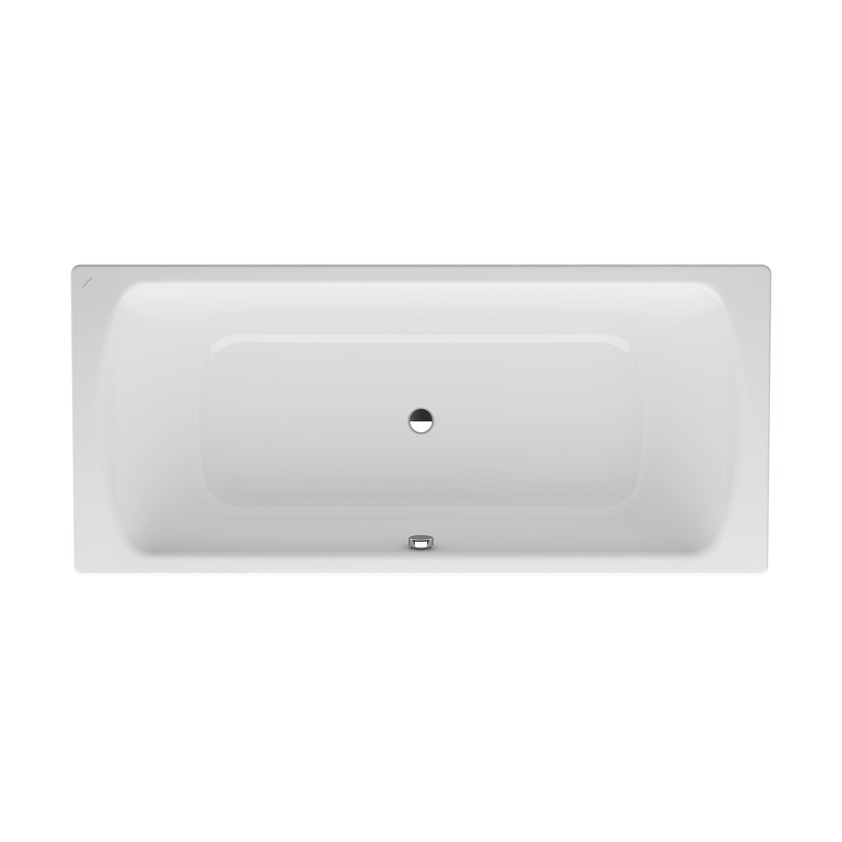227950 bathtub  enameled steel 3 5 mm  fitted version  outlet at centre  with anti noise pads 0