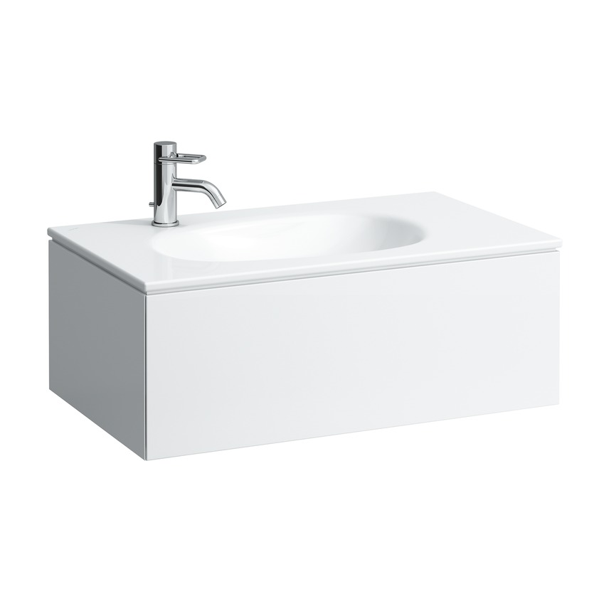 406401 vanity unit with 1 drawer  with space saving siphon  matches washbasin 817804  without socket 0