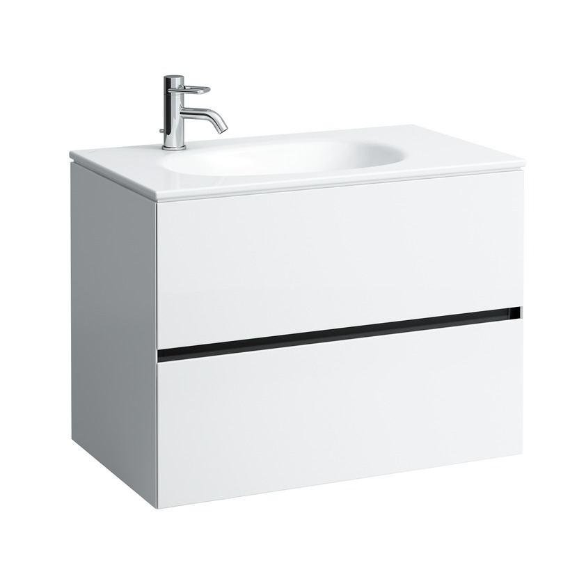 406402 vanity unit with 2 drawers  with space saving siphon  matches wash basin 817804  without socket 0