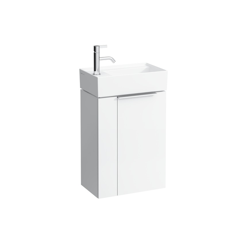 407511 vanity unit with one door  with space saving siphon  for washbasin 815335 0