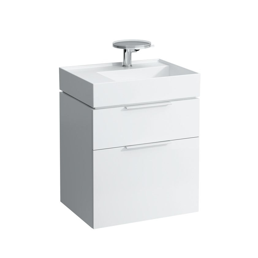407552 vanity unit with space saving siphon for washbasin 810334  with two drawers 0