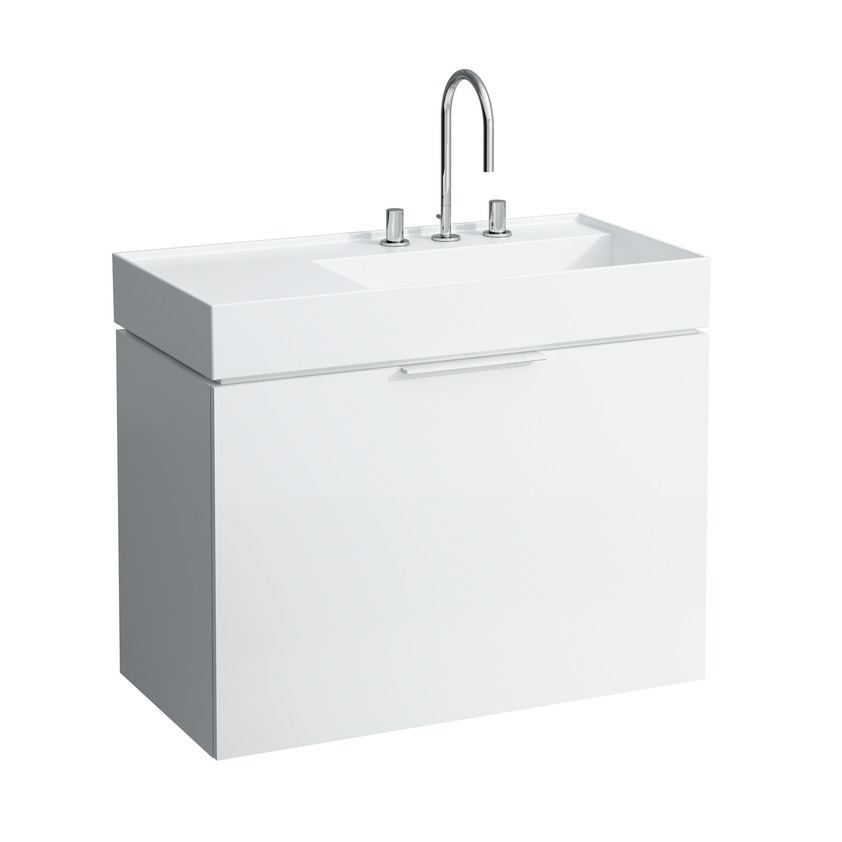 407601 vanity unit  with one drawer  with internal shelf  with space saving siphon  for washbasin 810338 9 0