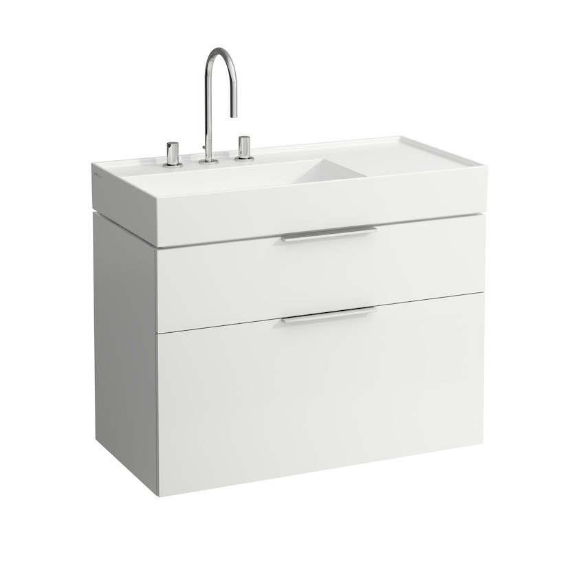 407612 vanity unit  with two drawers  with space saving siphon  for washbasin 810338 0