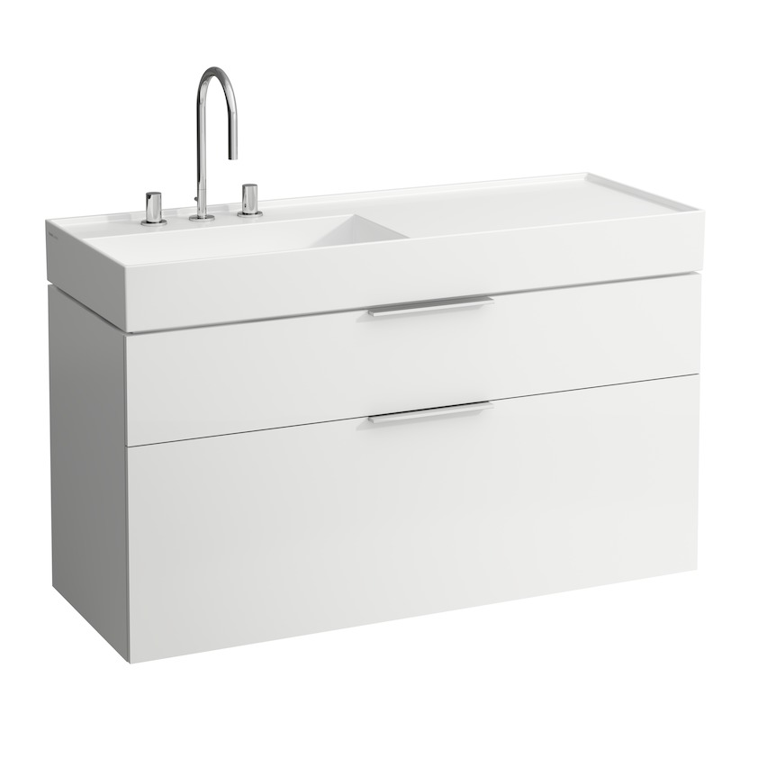 407642 vanity unit  with two drawers  with space saving siphon  for washbasin 813332 0