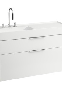 407642 Vanity unit, with two drawers, with space saving siphon, for washbasin 813332 on Designer Page