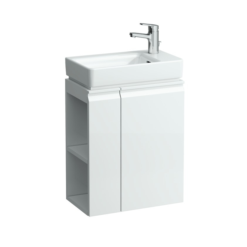 483002 vanity unit with door hinge right  shelves left for asym right washbasin 815954 0