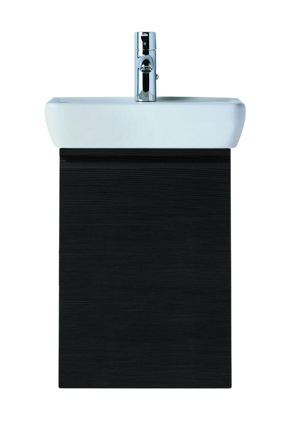 483011 vanity unit  with 1 glass shelf  with space saving siphon  for washbasin 811951  door hinge left 0