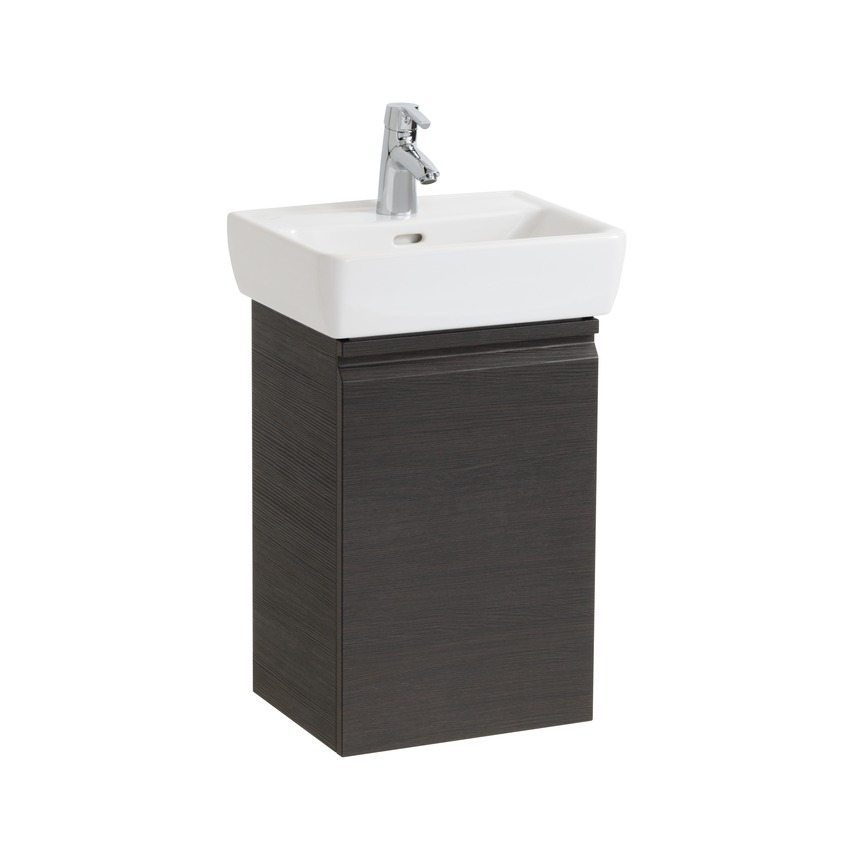 483012 vanity unit  with 1 glass shelf  with space saving siphon  for washbasin 811951  door hinge right 0