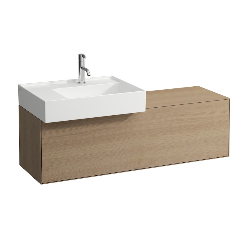 409031 vanity unit  with one drawer  with cut out left  with space saving siphon 0