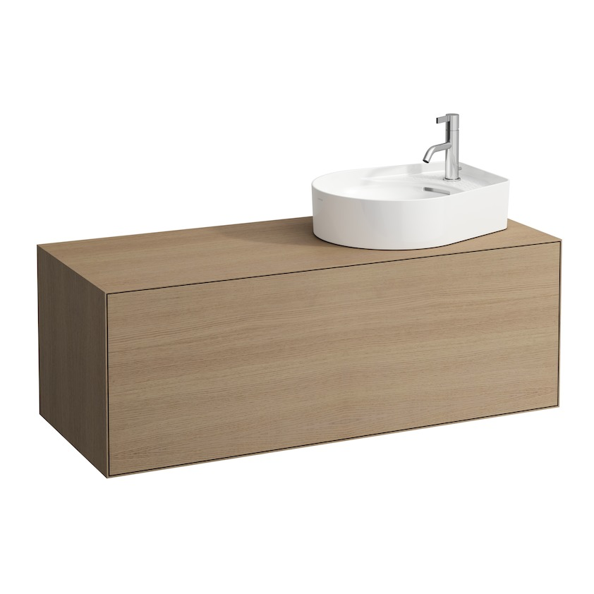 409052 vanity unit  with one drawer  with cut out right  with space saving siphon 0