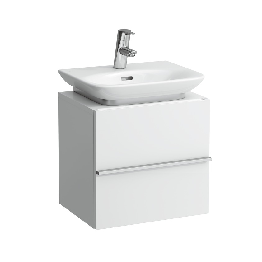 401102 vanity unit with 1 door right  1 glass shelf and space saving siphon for washbasin 815701 0