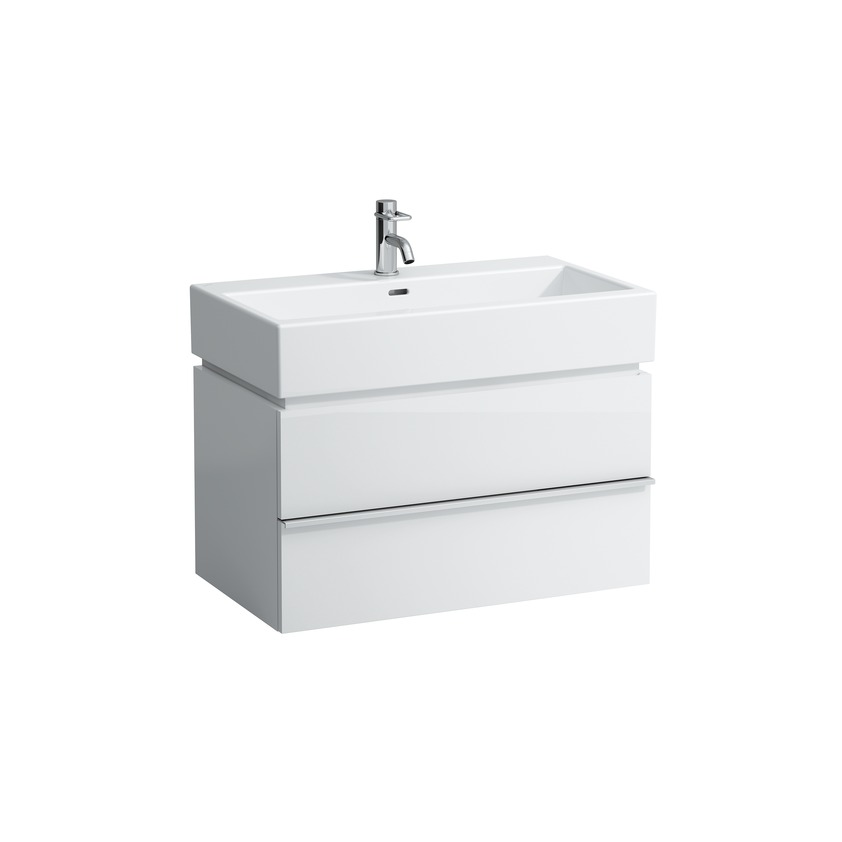 401242 vanity unit with 2 drawers with space saving siphon for washbasin 817436 0
