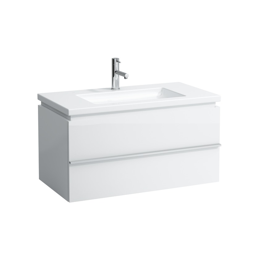 401261 vanity unit with 1 drawer with space saving siphon for washbasin 816433 0
