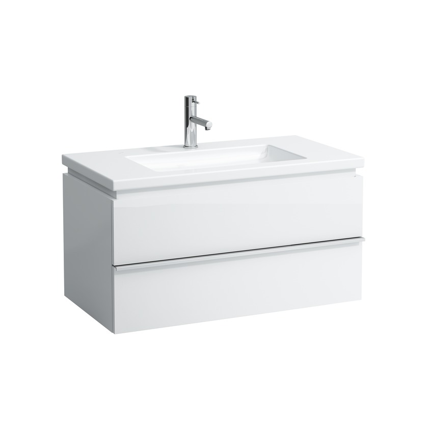 401262 vanity unit with 2 drawers with space saving siphon for washbasin 816433 0