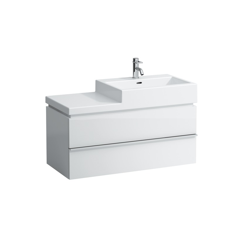 401282 vanity unit with 2 drawers with space saving siphon for washbasin 818437  818431  818432 0